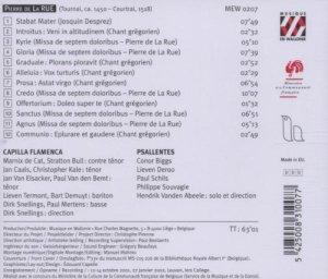 Pierre de la Rue - Missa de septem doloribus - Content