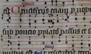 Psallentes' Ethica - fragment from B-Gu Ms 14 (Ghent, Graduale end 15th century)