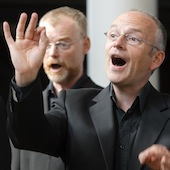 Some Psallentes guys singing: Philippe Souvagie, Conor Biggs, Hendrik Vanden Abeele
