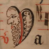 NL-RHCL 1970 f54 Capital from a Maastricht gradual, 15th century