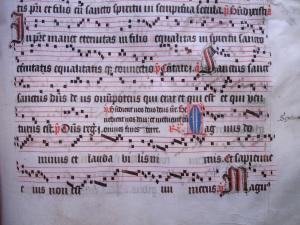 B-Gu Ms 15 fragment - Psallentes - Hendrik Vanden Abeele