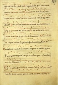 [Dendermonde, Sint-Pieters & Paulusabdij, Ms. Cod. 9, f168] Hildegard Ursula Psallentes