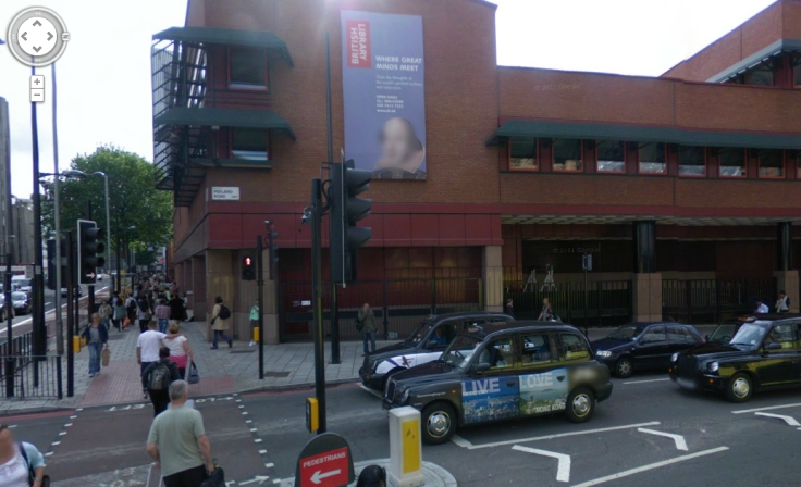 Shakespeare at the British Library, face blurred, silly thing on Psallentes.com
