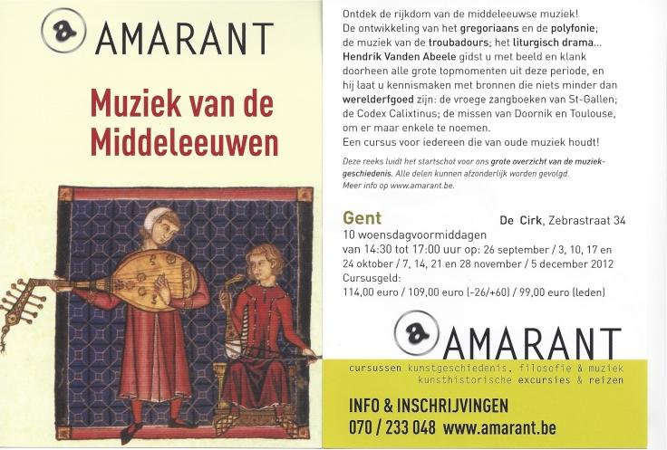 Muziek van de Middeleeuwen, Hendrik Vanden Abeele, Amarant, Psallentes