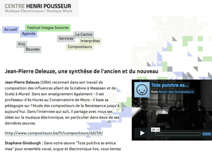 Jean-Pierre Deleuze interview Psallentes Arnaud Van de Cauter