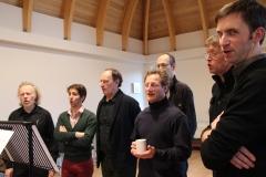 Jan, Adriaan, Philippe, Charles, Guido, Patrick, Pieter. Machaut workshop Psallentes & Hendrik Vanden Abeele
