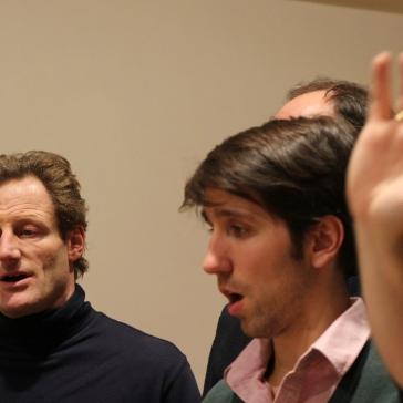 Charles, Adriaan, Hendrik's hand, Machaut workshop Psallentes & Hendrik Vanden Abeele