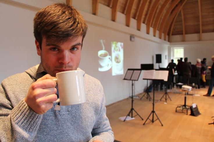 Sander Teabreak at lecture-recital Psallentes Hendrik Vanden Abeele
