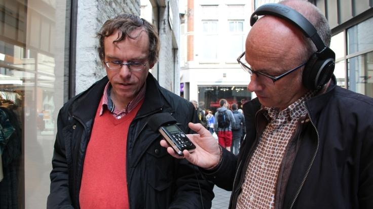 Maastricht Servaaslegende op straat Hendrik Vanden Abeele en Jurgen de Bruyn op stap