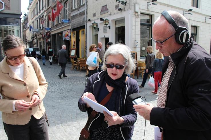 Zefiro Torna en Psallentes op straat in Maastricht
