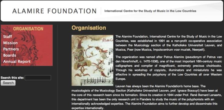 Hendrik Vanden Abeele @ Alamire Foundation