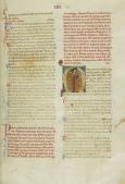 A page from a thirteenth-century chansonnier. Portrait of troubadour Peire Vidal. [Paris, Bibliothèque Nationale, Français 854]