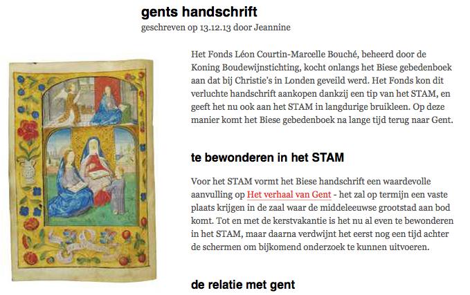 Biese gebedenboek - Site Psallentes Hendrik Vanden Abeele