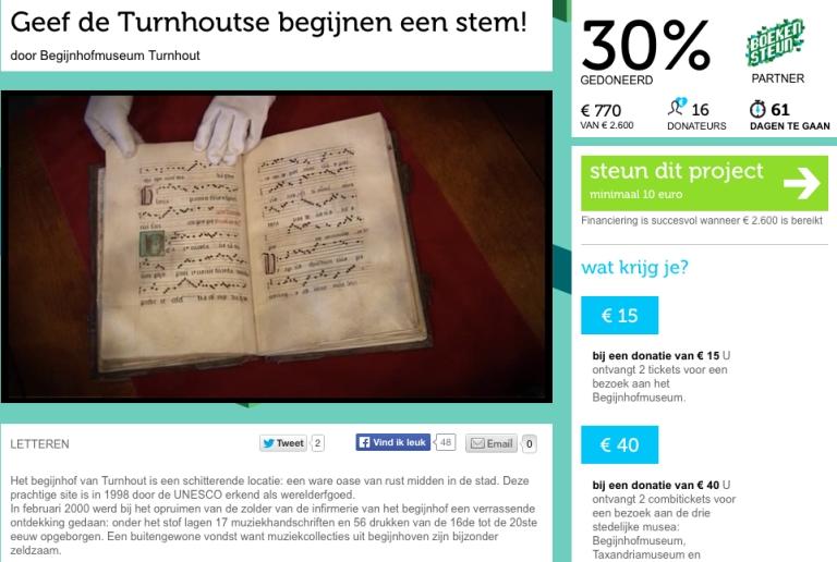 Dertig Procent Turnhout Processionale site Psallentes Hendrik Vanden Abeele