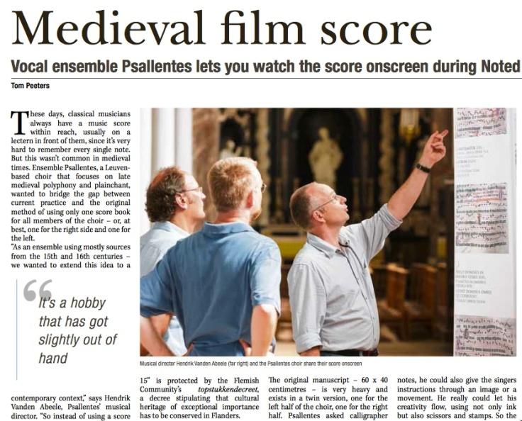 Medieval Score Psallentes Liquescens Brody Neuenschwander