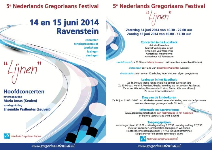 Gregoriaans Festival Ravenstein 2014 met Psallentes en Hendrik Vanden Abeele