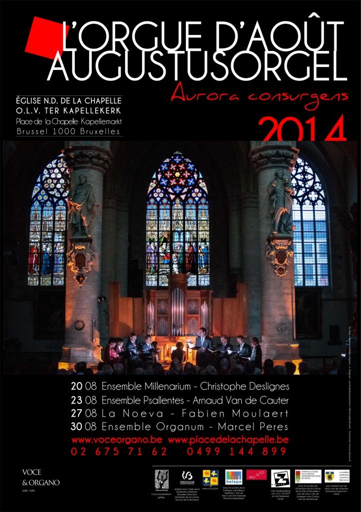 Psallentes et Arnaud Van de Cauter et Hendrik Vanden Abeele Kapellekerk Brussel Augustusorgel