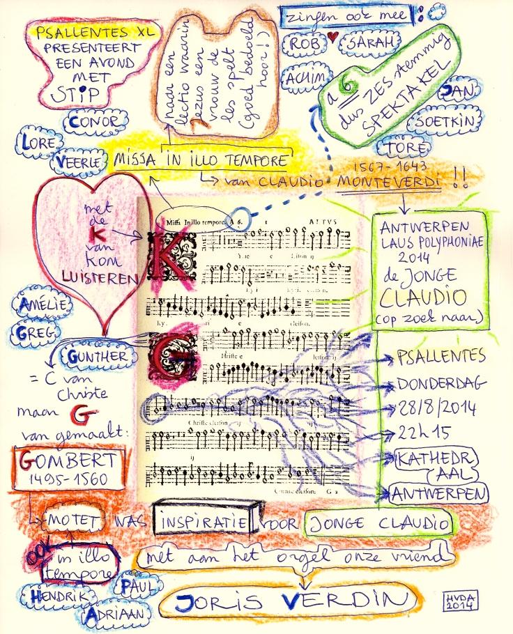 Monteverdi Affiche Psallentes op Laus Polyphoniae 2014