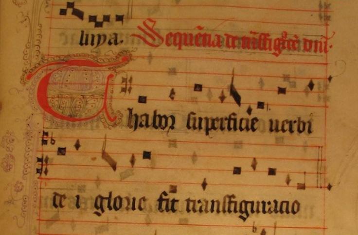 Transfiguratio uit B-Tc A 58 Psallentes Hendrik Vanden Abeele