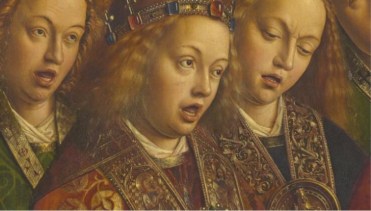 Triptycha Van Eyck Lam Gods. Psallentes Hendrik Vanden Abeele