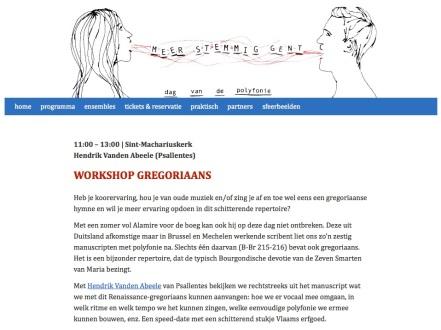 Meer Stemmig Gent. Workshop Hendrik Vanden Abeele