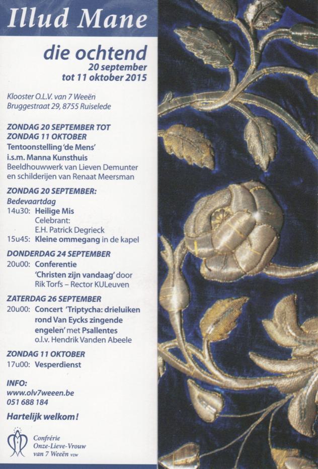 Psallentes Ruiselede 26 september 2015 Boekenlegger