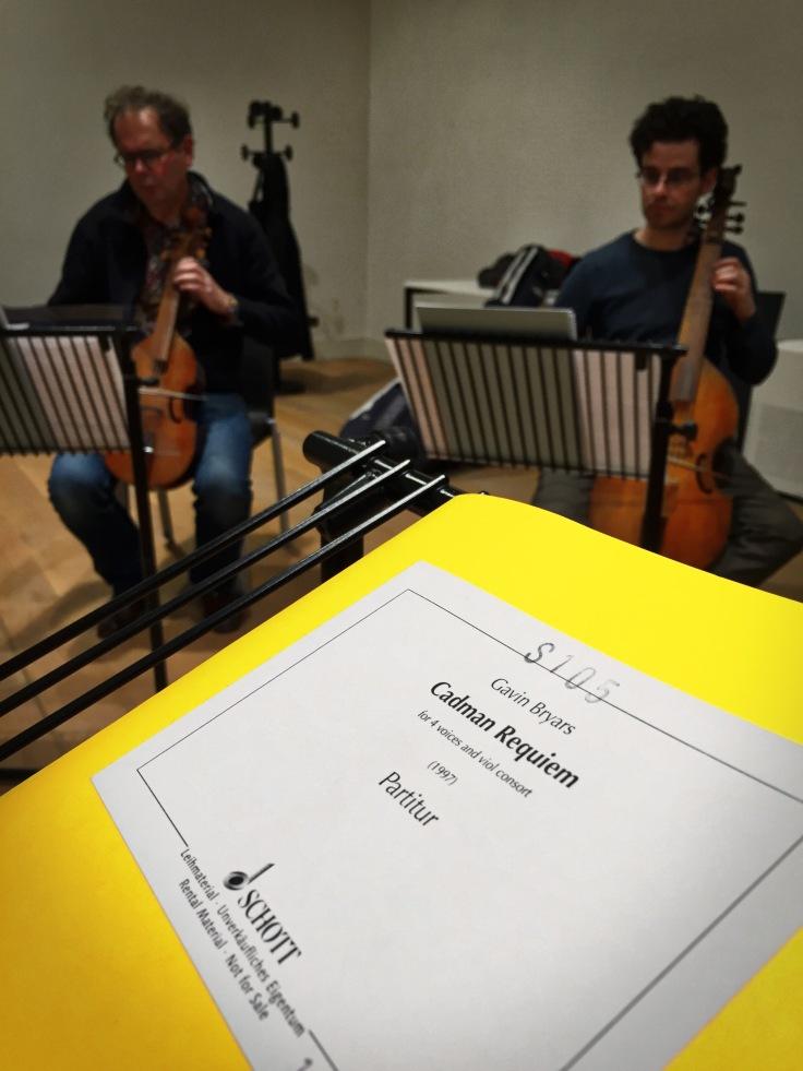Freek Borstlap en Thomas Baeté in project Cadman Requiem Psallentes en The Spirit of Gambo Hendrik Vanden Abeele