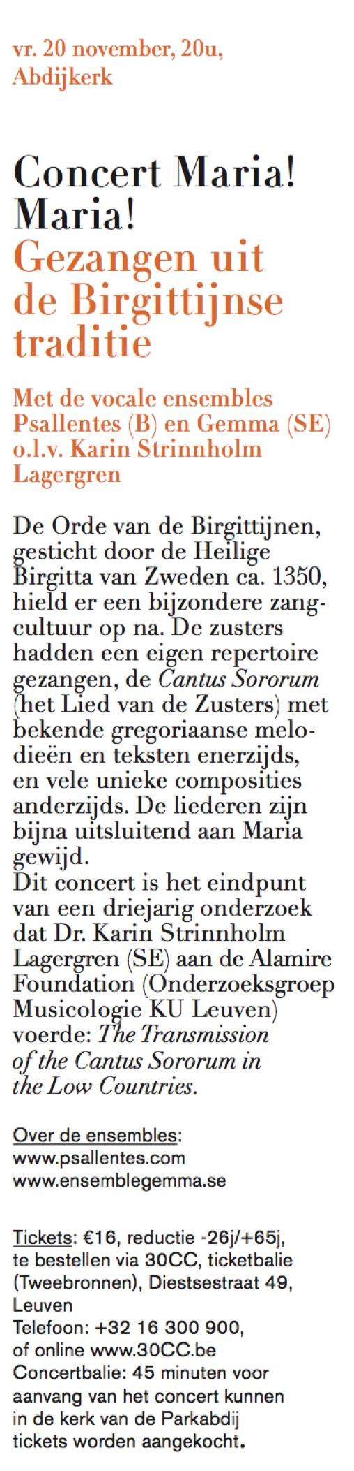 Concert Maria Maria