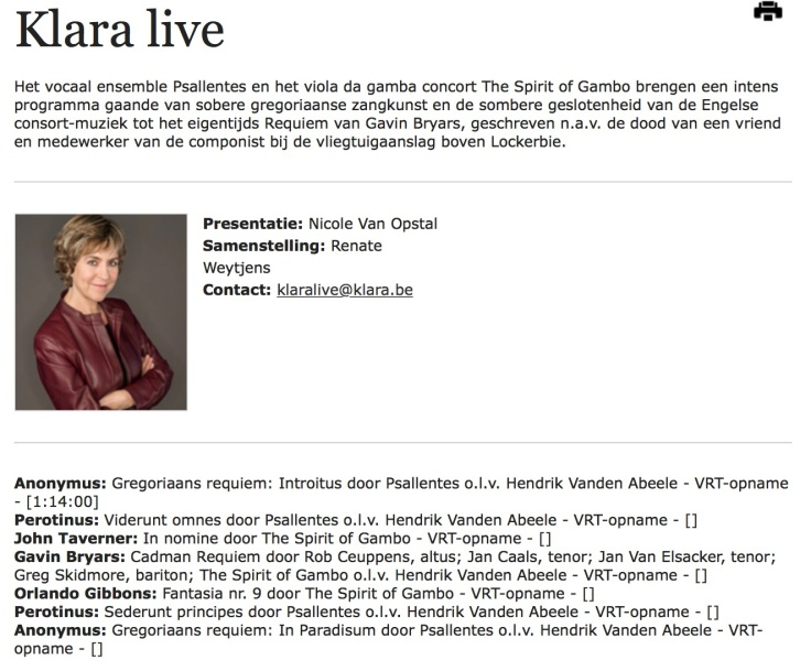 Klara Live: Psallentes en The Spirit of Gambo