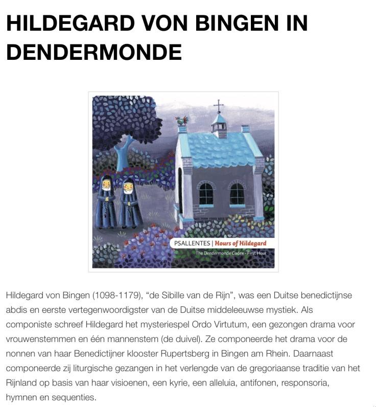 Hildegard in Dendermonde Psallentes