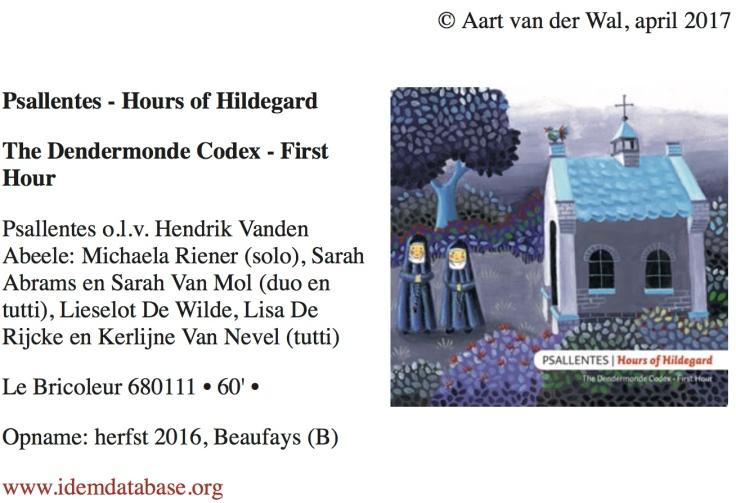 Aart van der Wal recensie Hildegard Psallentes
