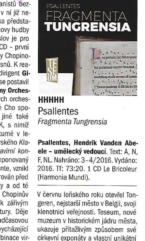 Harmonia 5 H's Psallentes