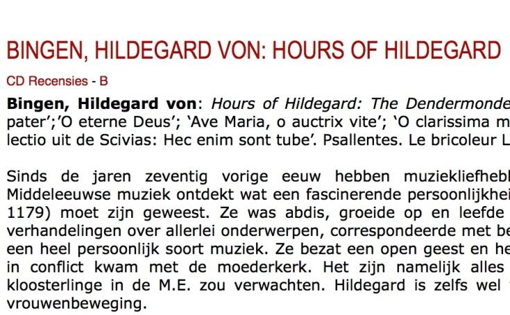 Hildegard Musicalifeiten Psallentes