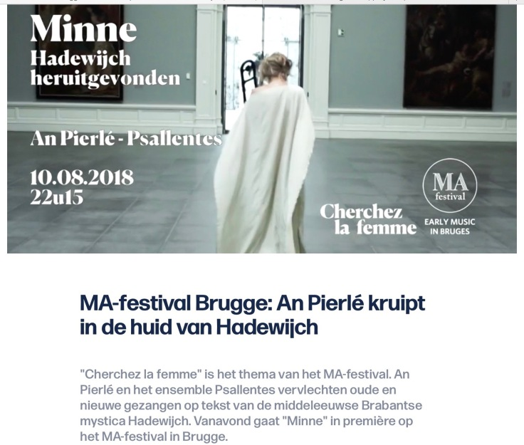 Psallentes An Pierlé Minne MA-festival 2018