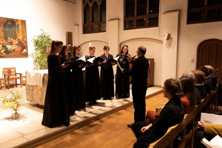 UCSIA-nieuwjaarsreceptie 2020-36 Frederik Hulstaert Psallentes Op dese vaert Souterliedekens